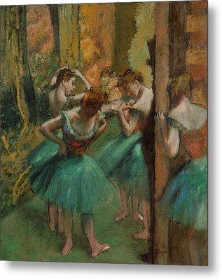 Dancers, Pink And Green Metal Print by Edgar Degas