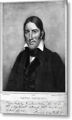 Davy Crockett (1786-1836) Metal Print by Granger