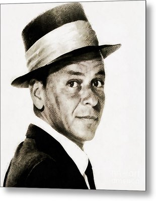 Frank Sinatra, Vintage Hollywood Legend Metal Print