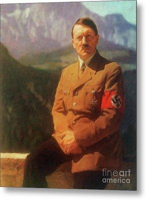 Leaders Of Wwii - Adolf Hitler Metal Print