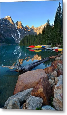 Moraine Lake Metal Print by Bernard Chen