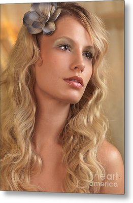Portrait Of A Beautiful Young Woman Metal Print by Oleksiy Maksymenko