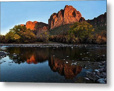 Metal Print featuring the photograph Salt River Reflections by Dave Dilli