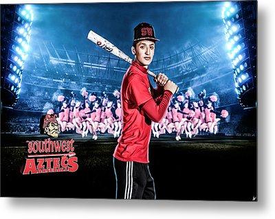 Metal Print featuring the digital art Southwest Aztecs Baseball Organization by Nicholas Grunas