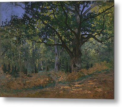 The Bodmer Oak, Fontainebleau Forest Metal Print