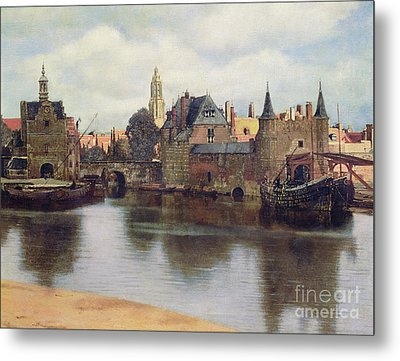 View Of Delft Metal Print by Jan Vermeer