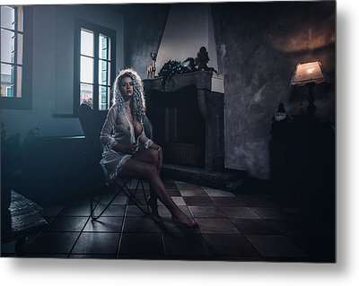 Metal Print featuring the photograph Tu M'as Promis by Traven Milovich