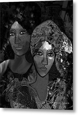 Metal Print featuring the digital art 452 - Secrets Of Friendship by Irmgard Schoendorf Welch