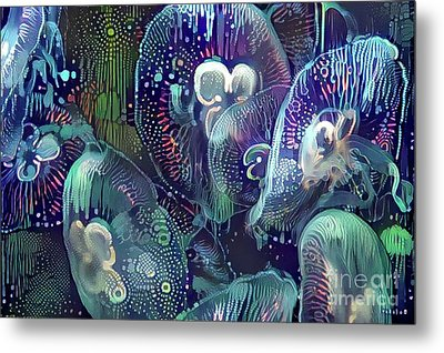 Abstract Jellyfish Metal Print