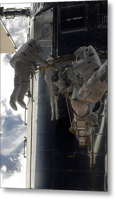Astronauts Participate Metal Print by Stocktrek Images