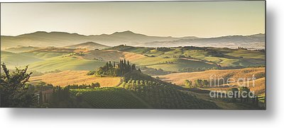 Golden Tuscany Metal Print by JR Photography