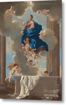 The Assumption Of The Virgin Metal Print by Nicolas Poussin