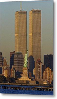 Usa, New York, Statue Of Liberty Metal Print