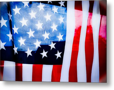 50 Stars 13 Bars Metal Print by Keith Sanders
