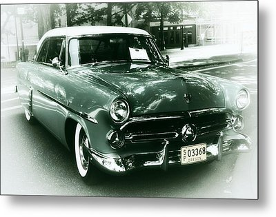 '52 Ford Victoria Hard Top Metal Print by Cathie Tyler