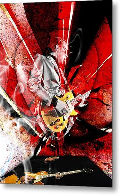 Joe Bonamassa Blues Guitarist Art. Metal Print by Marvin Blaine