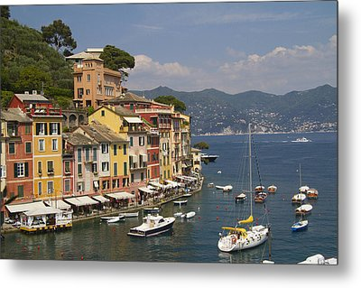 Portofino In The Italian Riviera In Liguria Italy Metal Print by David Smith