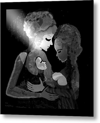 Metal Print featuring the digital art 826 - The Child by Irmgard Schoendorf Welch