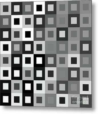 64 Shades Of Grey - 1 - Has Small White Metal Print