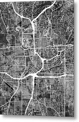 Atlanta Georgia City Map Metal Print by Michael Tompsett