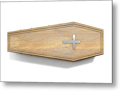 Coffin And Crucifix Metal Print
