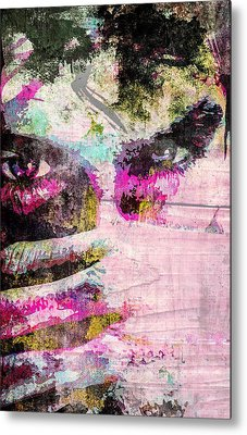 Metal Print featuring the mixed media Ian Somerhalder by Svelby Art