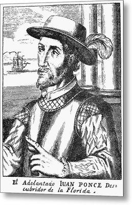 Juan Ponce De Leon Metal Print by Granger