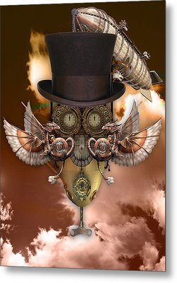 Steampunk Art Metal Print