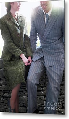 Metal Print featuring the photograph 1940s Couple by Lee Avison