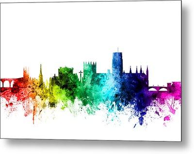 Durham England Skyline Cityscape Metal Print by Michael Tompsett