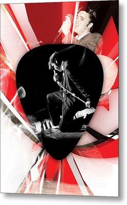 Elvis Presley Art Metal Print by Marvin Blaine