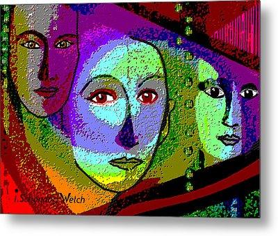 905 - A Certain Glare In The Eyes - 2017  Metal Print by Irmgard Schoendorf Welch
