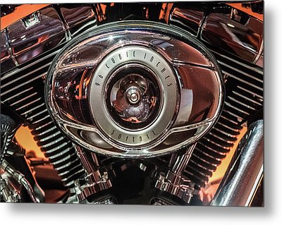 Metal Print featuring the photograph 96 Cubic Inches Softail by Randy Scherkenbach