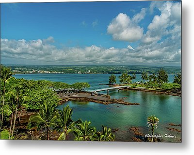 A Beautiful Day Over Hilo Bay Metal Print