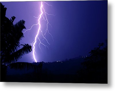 Metal Print featuring the photograph A Bolt From The Blue by Odille Esmonde-Morgan