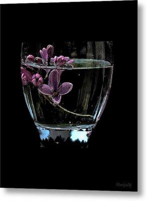 A Bowl Of Lilacs Metal Print
