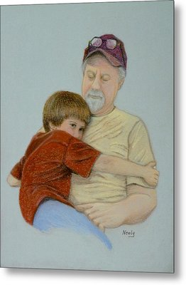 A Boy And His Dad Metal Print by Pat Neely