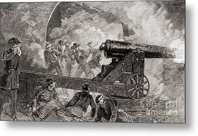 A Casemate During The Bombardment At The Battle Of Fort Sumter, 1861 Metal Print