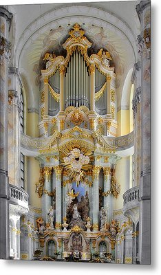 A Church Filled With Music - Church Of Our Lady Dresden Metal Print by Christine Till