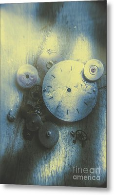 A Clockwork Blue Metal Print