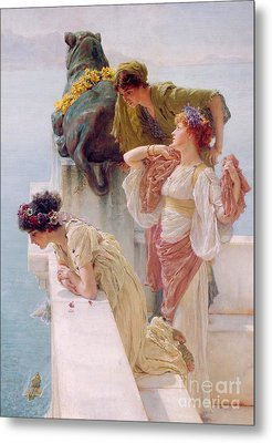 A Coign Of Vantage Metal Print by Sir Lawrence Alma-Tadema