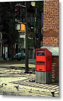 A Corner In Edmonton Metal Print by Mario Brenes Simon