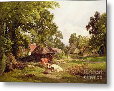 A Cottage Home In Surrey Metal Print by Edward Henry Holder