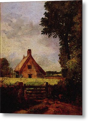 A Cottage In A Cornfield Metal Print
