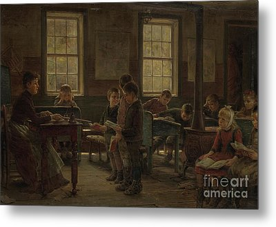 A Country School Metal Print by Edward Lamson Henry