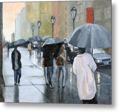 A Day For Umbrellas Metal Print