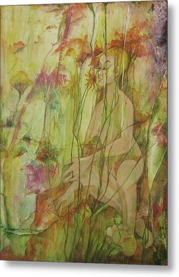 A Day In The Flowers Metal Print by Georgia Annwell