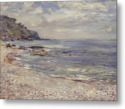 A Deserted Rocky Shore Metal Print by William McTaggart