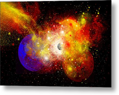 A Dying Star Turns Nova As It Blows Metal Print