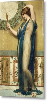 A Fair Reflection Metal Print by John William Godward